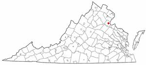 Location of Stafford, Virginia