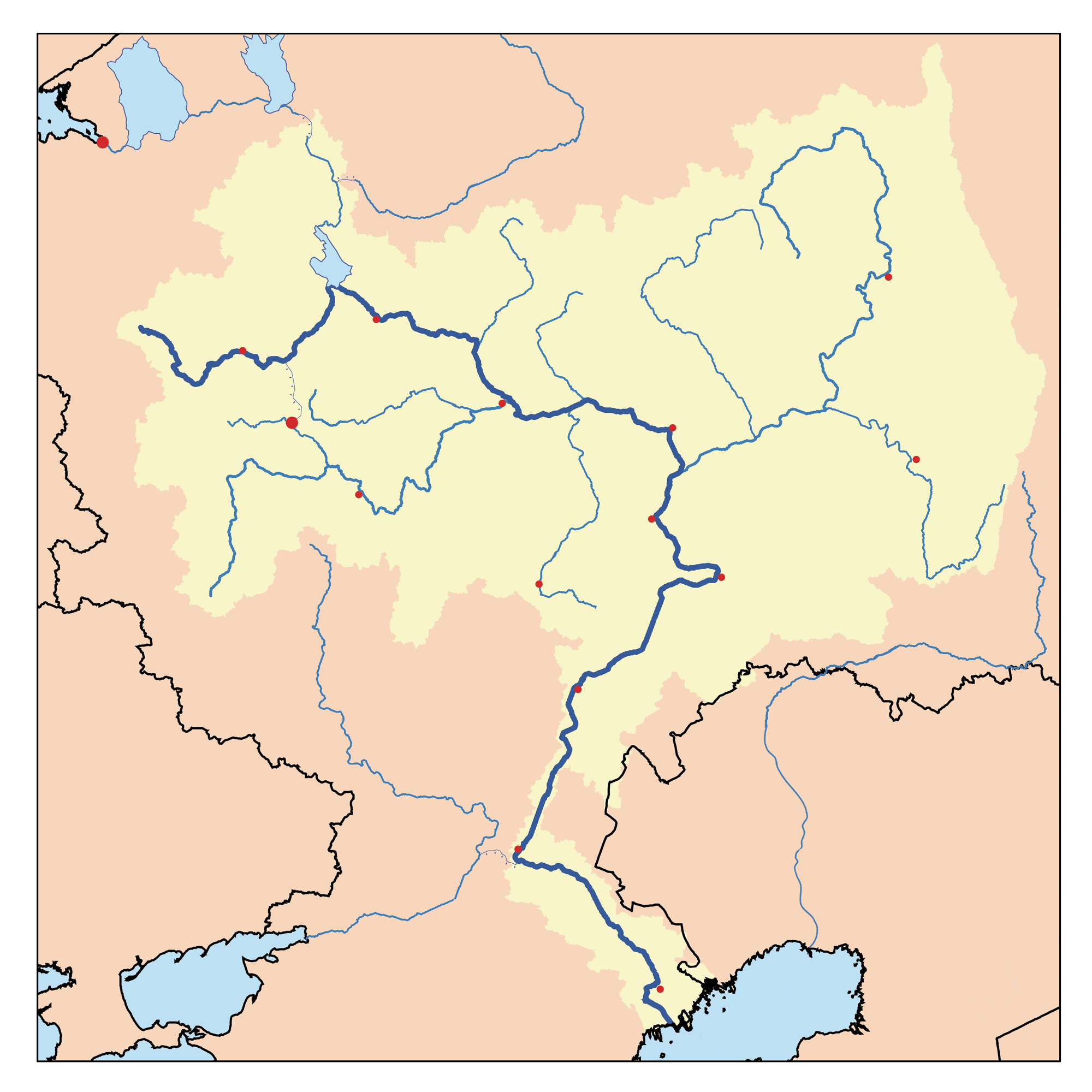 Volga River Map - The volga river
