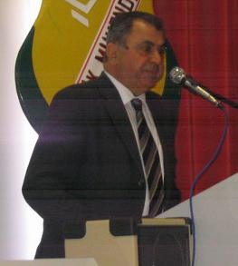 English: İrsen Küçük, the current prime minist...