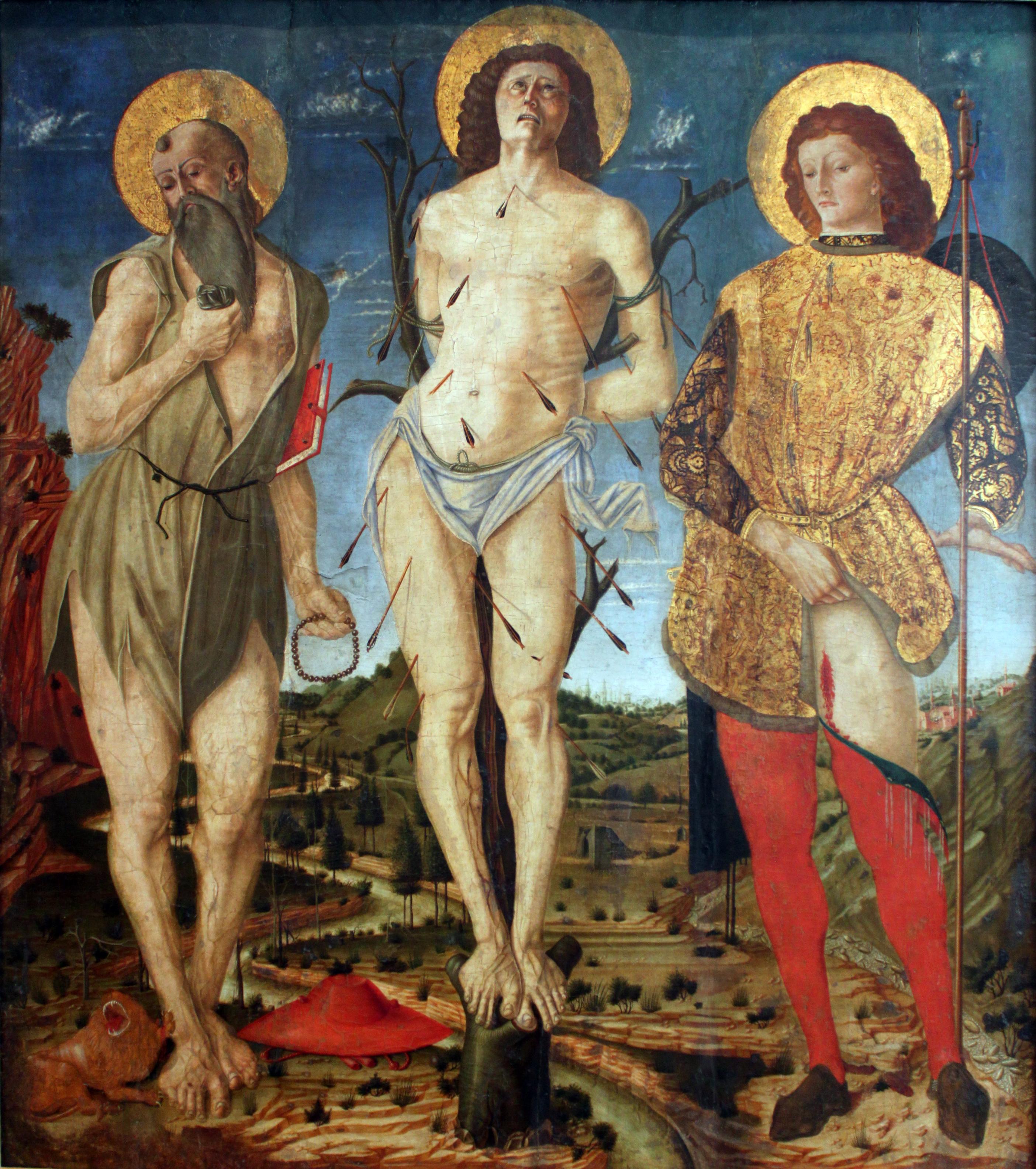 File:1478 dAncona Die heiligen Hieronymus, Sebastian und Rochus anagoria.JPG