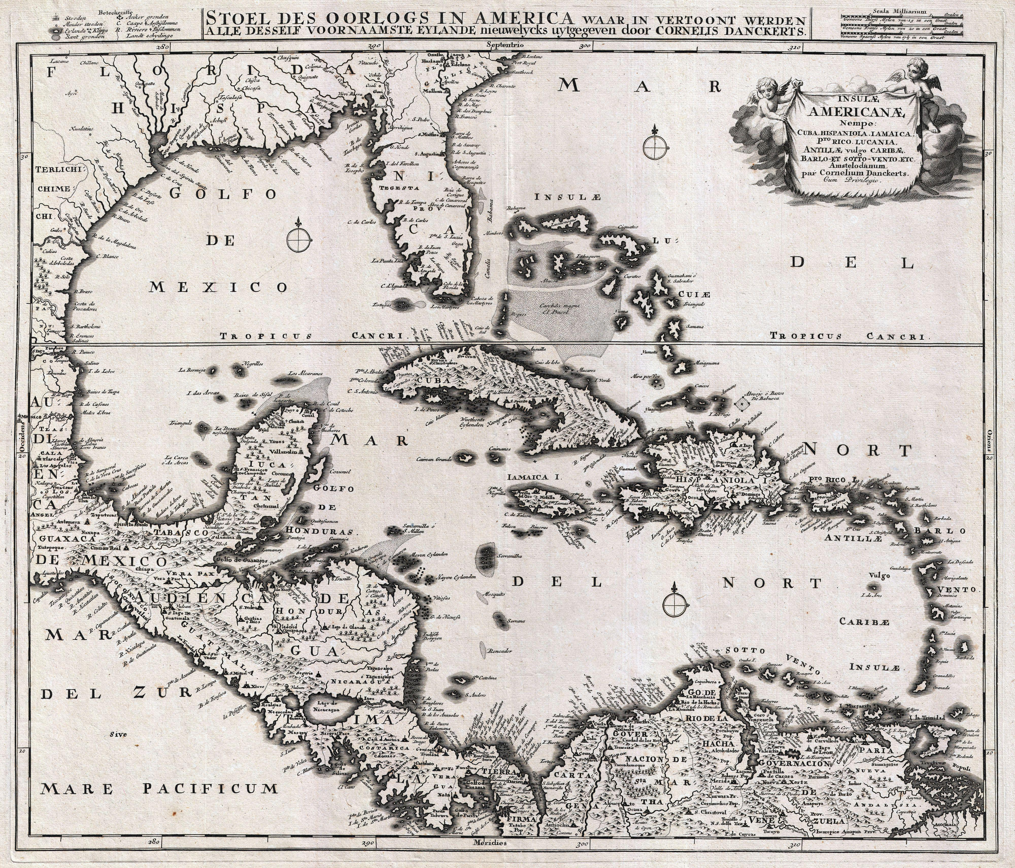 File1696 Danckerts Map of Florida the West Indies and the