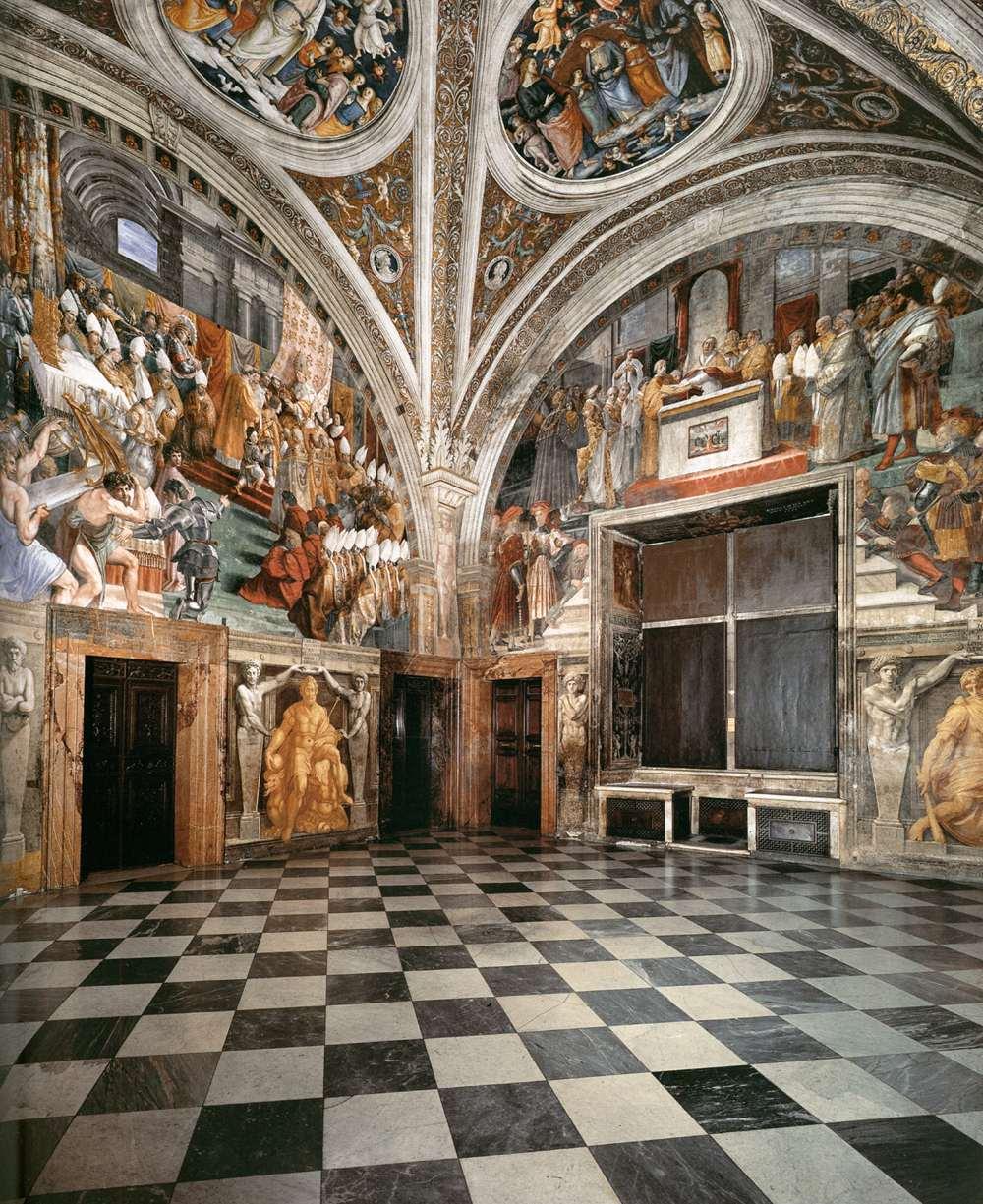 Chambre de Raphael aux musées du Vatican : Stanza dell'Incendio di Borgo - Photo d'0ro1
