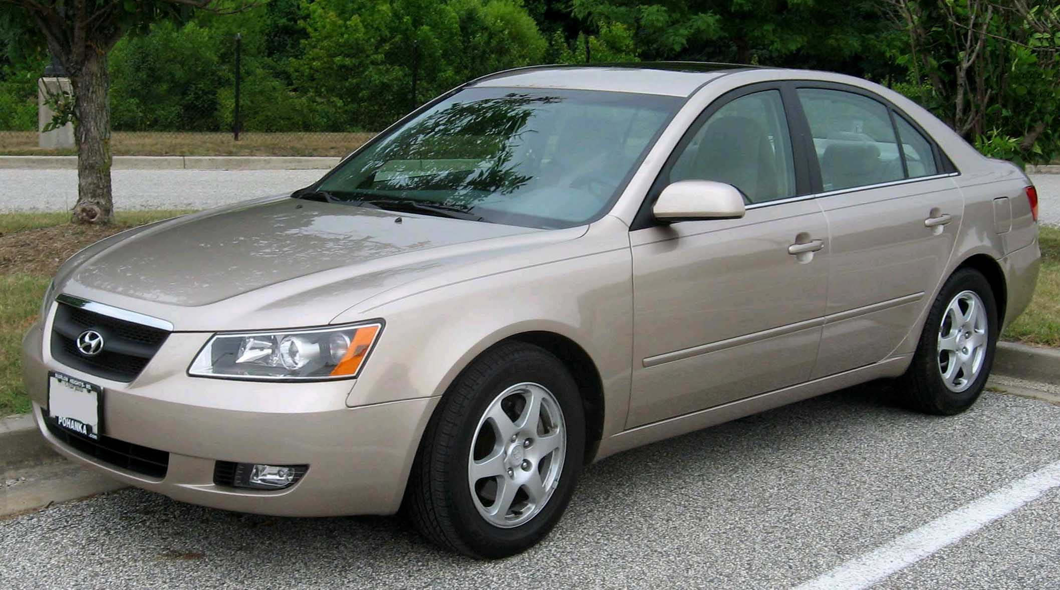 File 2006 2007 Hyundai Sonata Gls V6 Jpg From Wikipedia