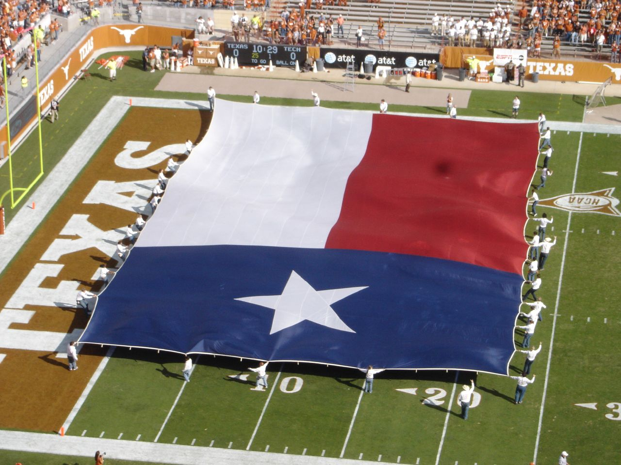 2007 Tech at Texas Flag