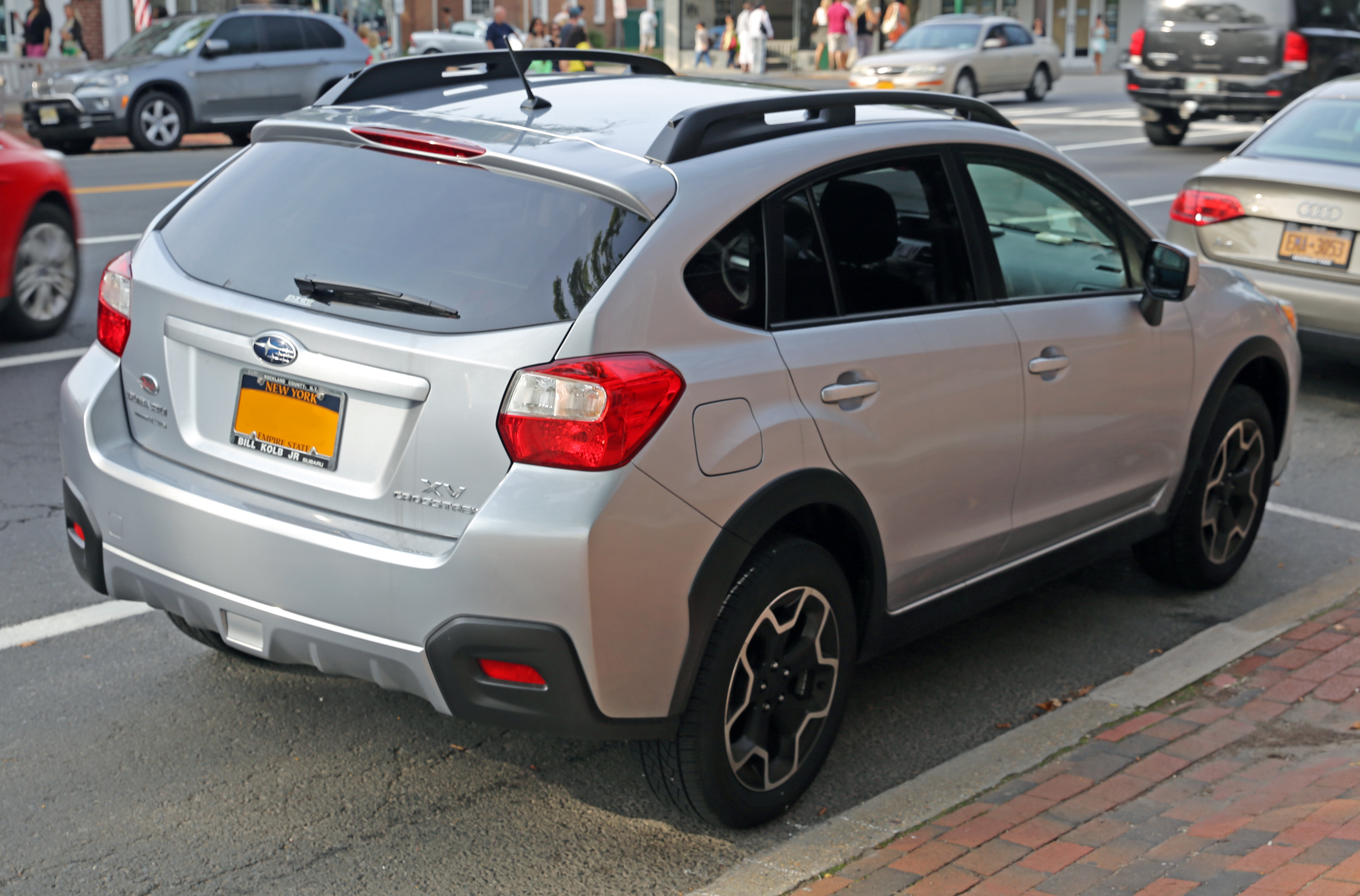 file:2013 subaru xv crosstrek, rear view - wikimedia commons