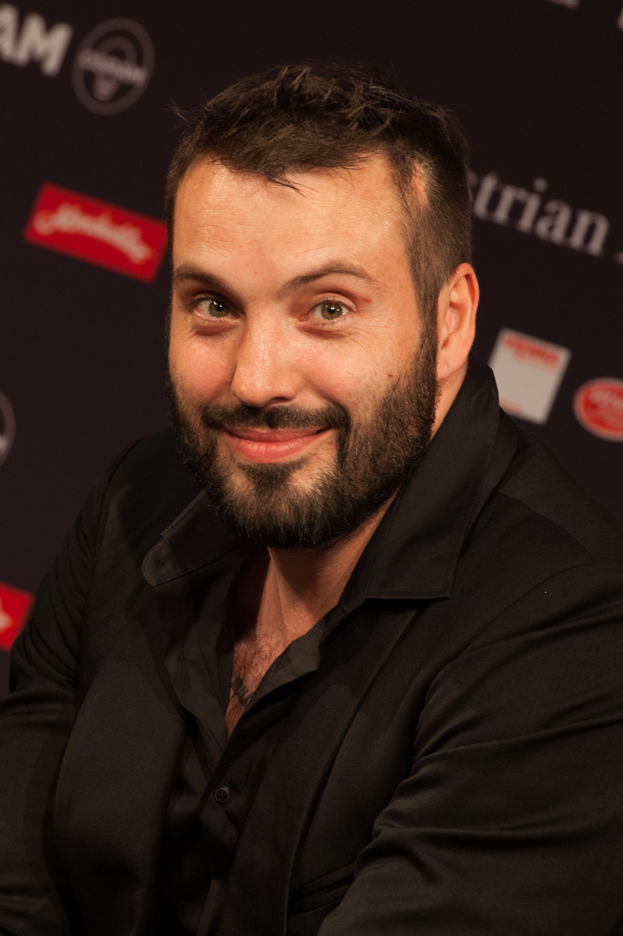 The 37-year old son of father (?) and mother(?), 188 cm tall Václav Noid Bárta in 2018 photo