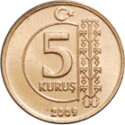 image of 5 kurus coin with the tree of life