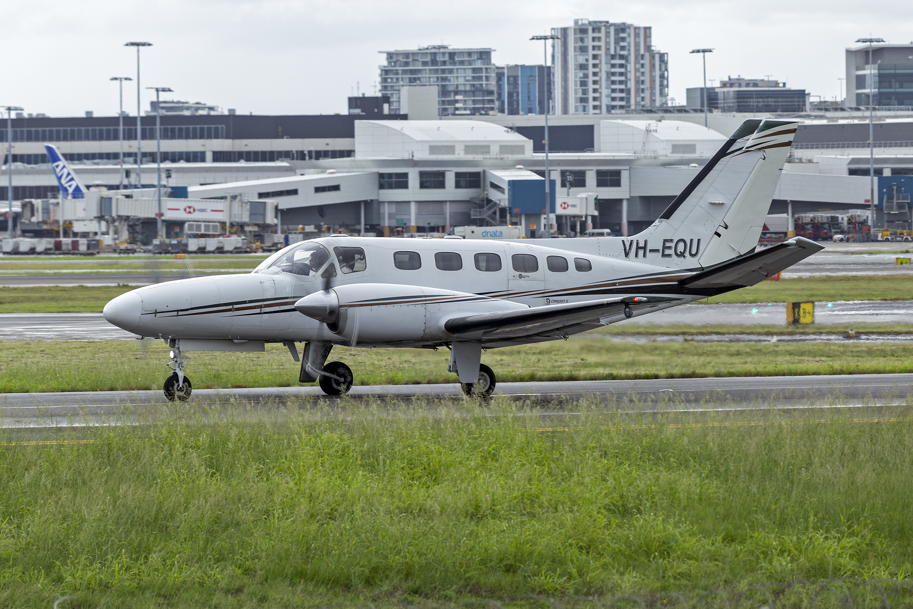 File:Airspeed Aviation (VH-EQU) Cessna 441 Conquest II taxiing at Sydney Airport (2).jpg