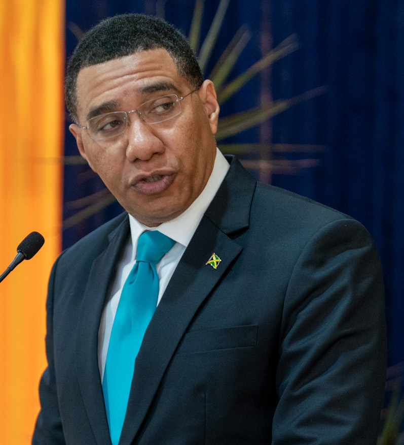 holness andrew jamaica jamaican election general wikipedia primer minister prime leader ministro squatting sympathy jlp cropped press central honourable titular