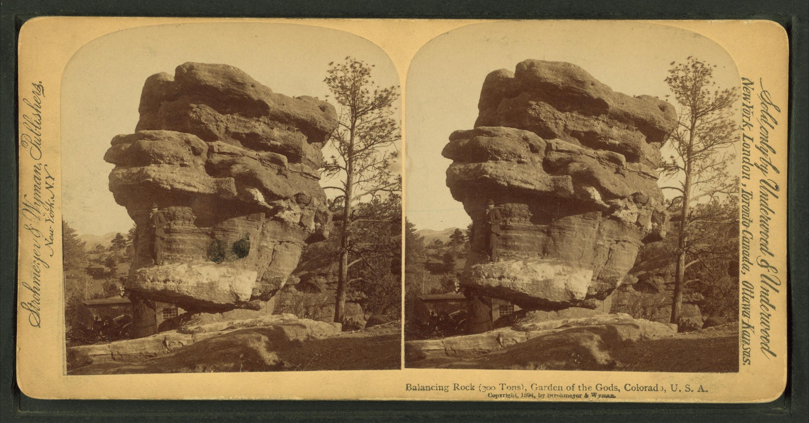 File Balancing Rock 300 Tons Garden Of The Gods Colorado U S A From Robert N Dennis