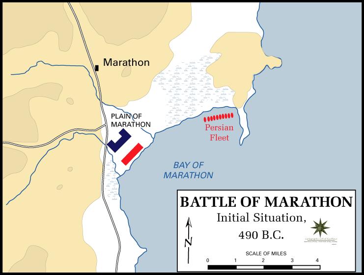 marathon grekland karta Slaget vid Marathon – Wikipedia marathon grekland karta