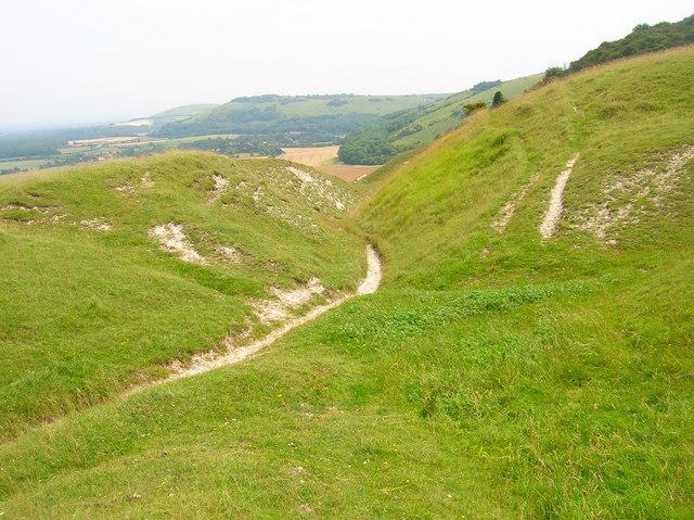 Bridleway to Fulking - geograph.org.uk - 495621