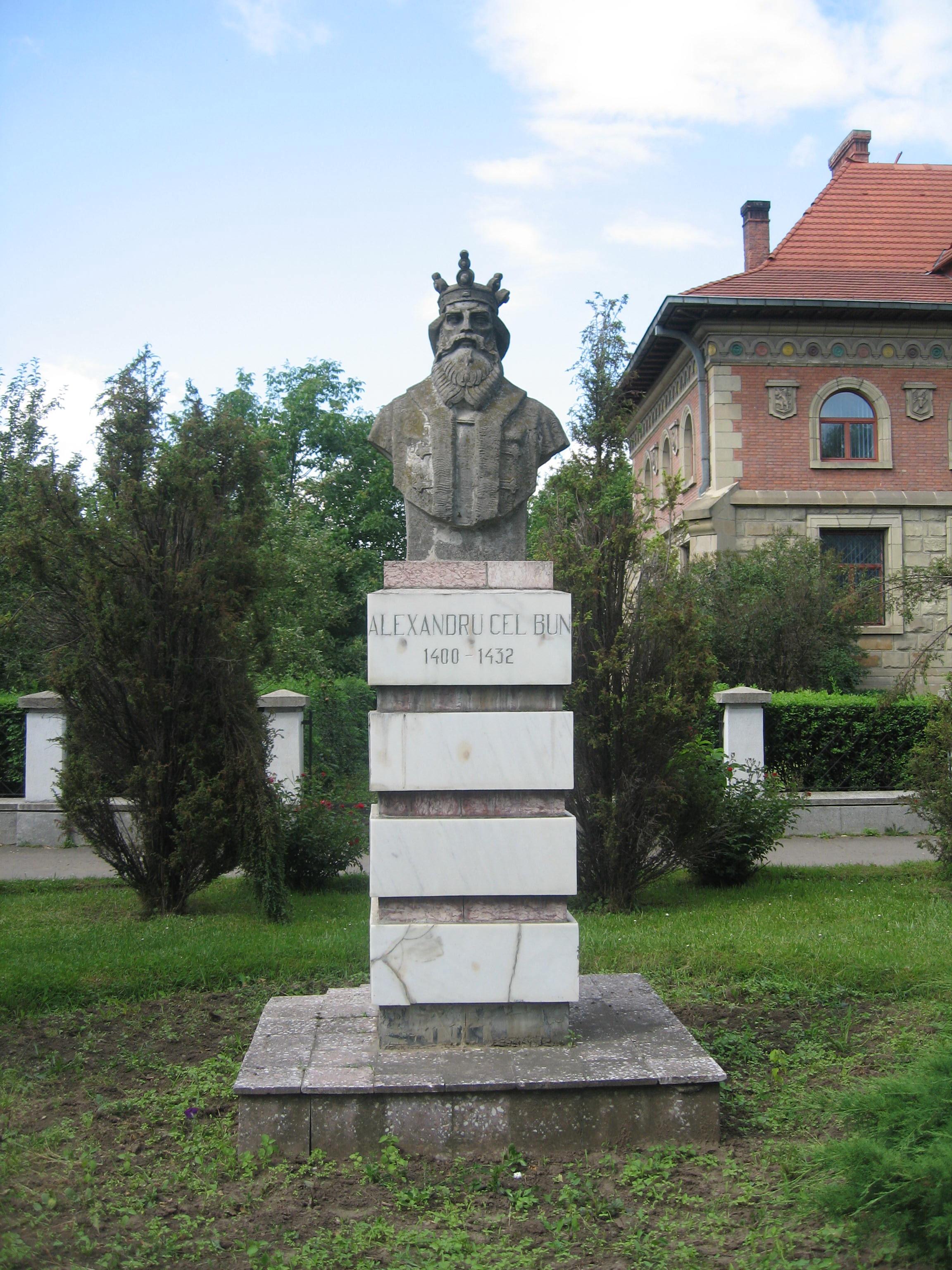 File Bustul Lui Alexandru Cel Bun Din Ru00c4u0083du00c4u0083uu00c5u00a3i Jpg Wikimedia Commons