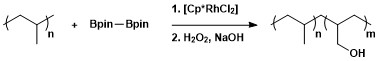 C–H borylation of polyolefins