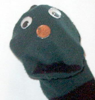 how to make a sock puppet person