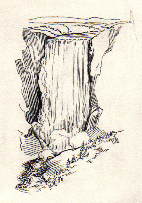 Line Drawing Waterfall : File cataract psf g wikimedia commons