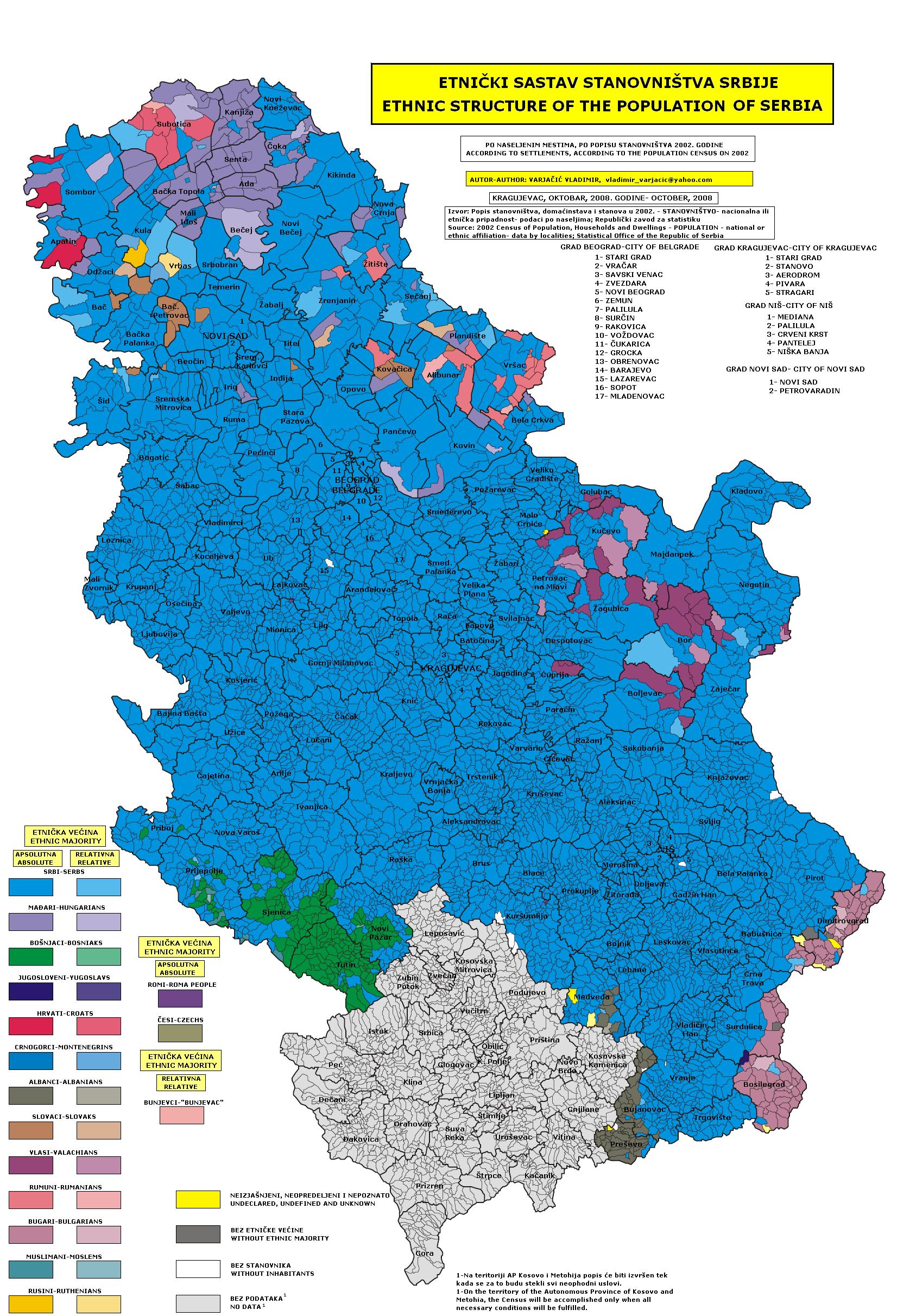 etnicka karta srbije File:Census 2002 Serbia, ethnic map (by localities).png  etnicka karta srbije