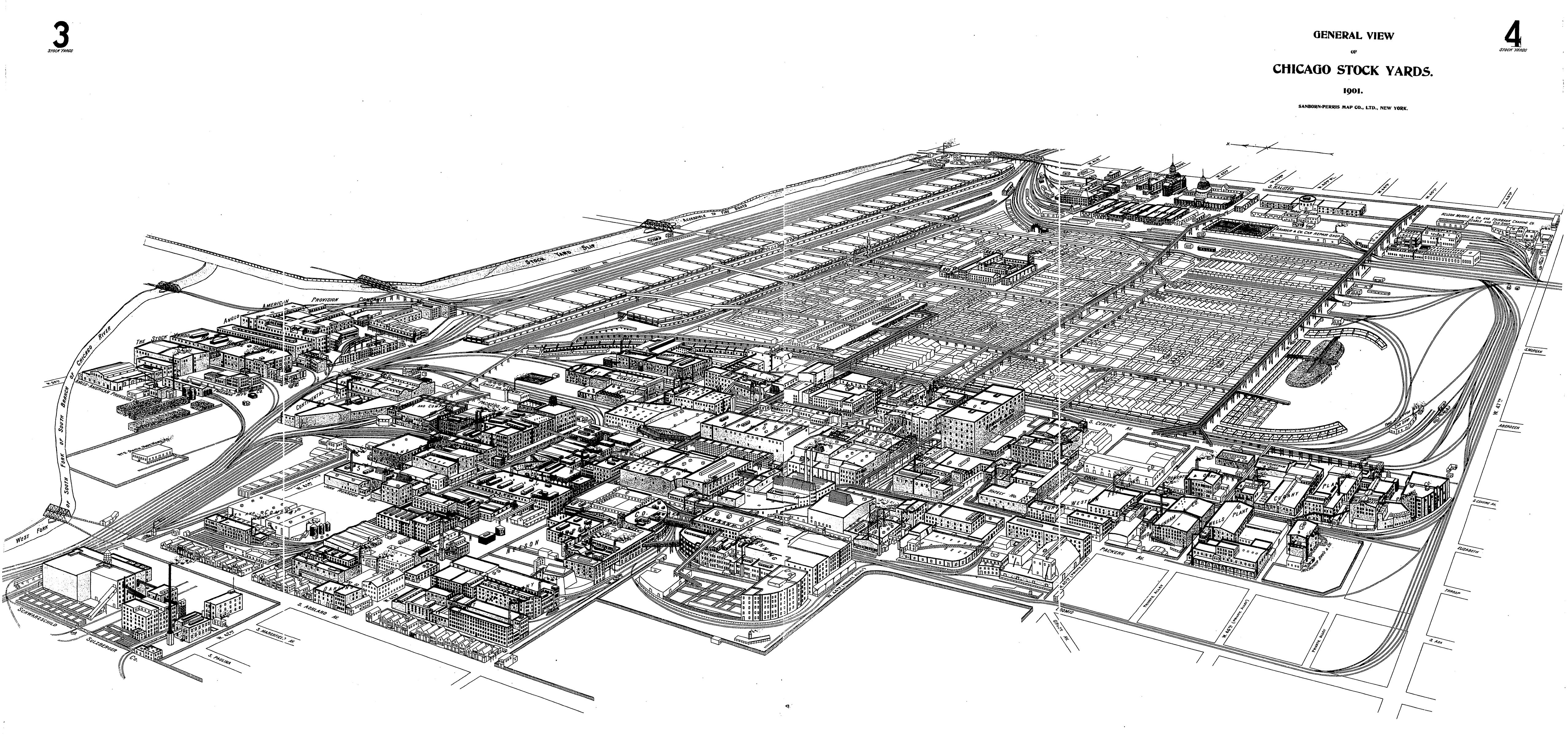 FileChicago Stockyards  Sanborn General View Combined - Chicago union map