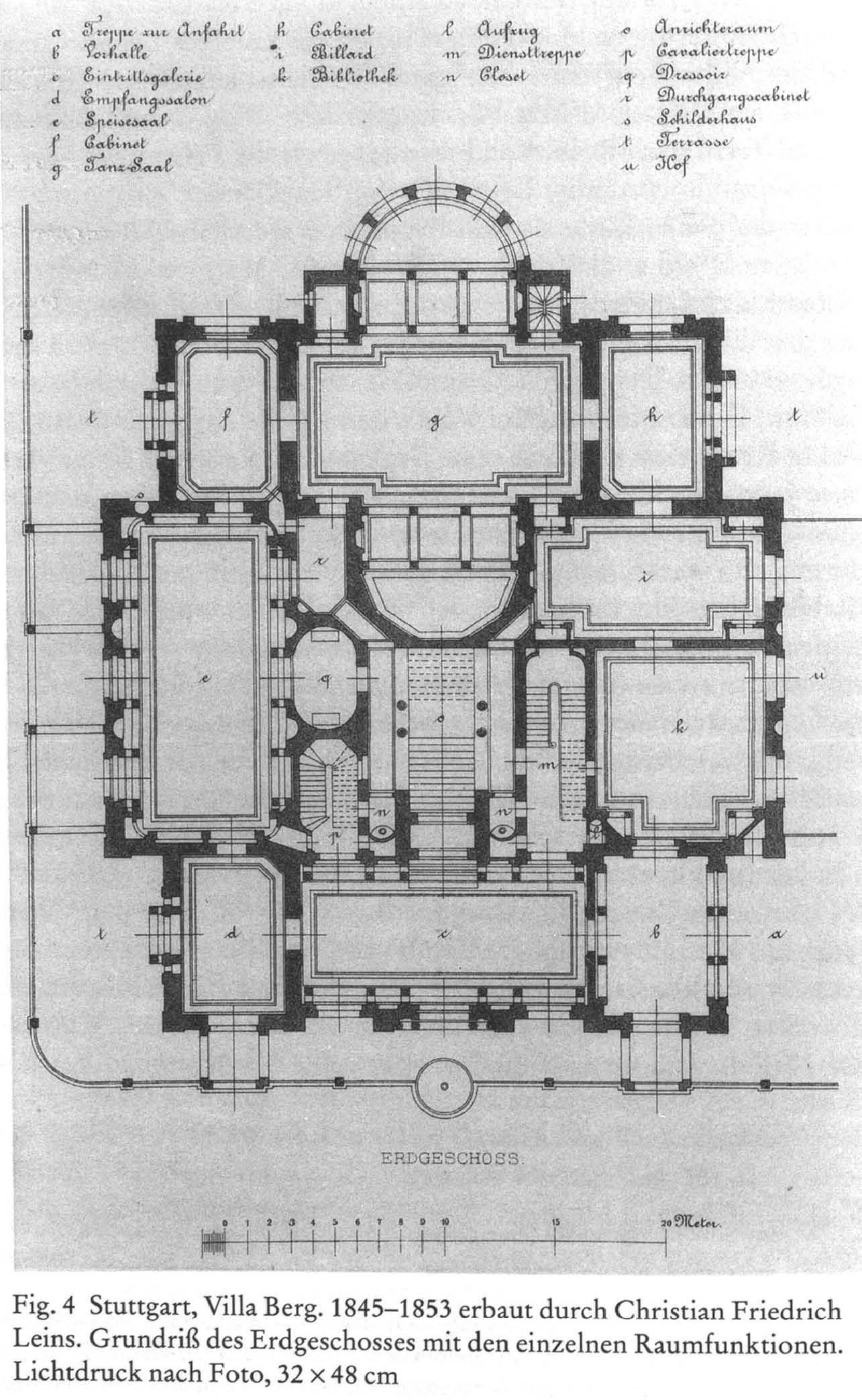 file christian friedrich von leins villa berg grundri des erdgeschosses wikimedia. Black Bedroom Furniture Sets. Home Design Ideas