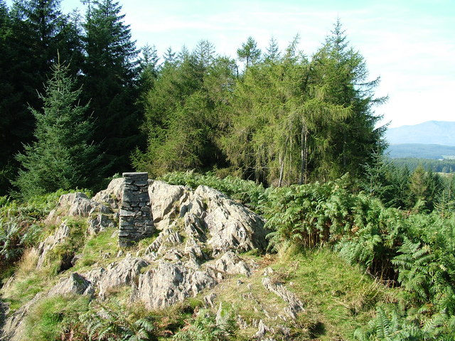 Claife Heights Trig Pillar - geograph.org.uk - 1484931
