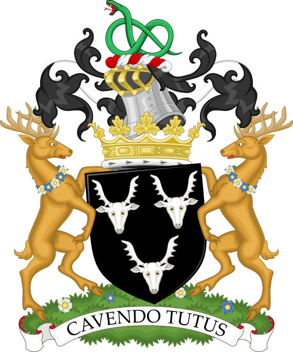 Coat of arms of the duke of Devonshire.png