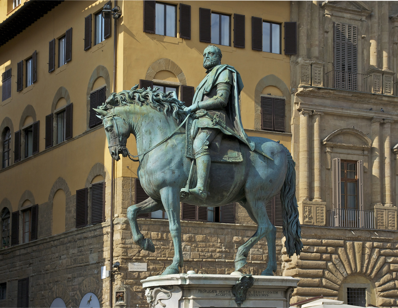 Giambologna, Monumento equestre al granduca Cosimo I, Firenze, Piazza della Signoria