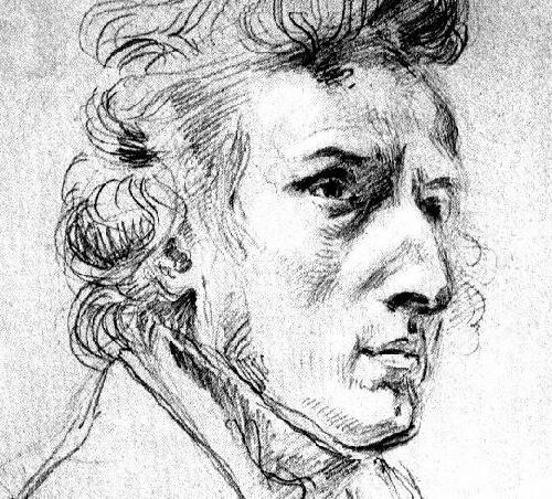 Frédéric Chopin | Portrait by Delacroix, ca. 1838