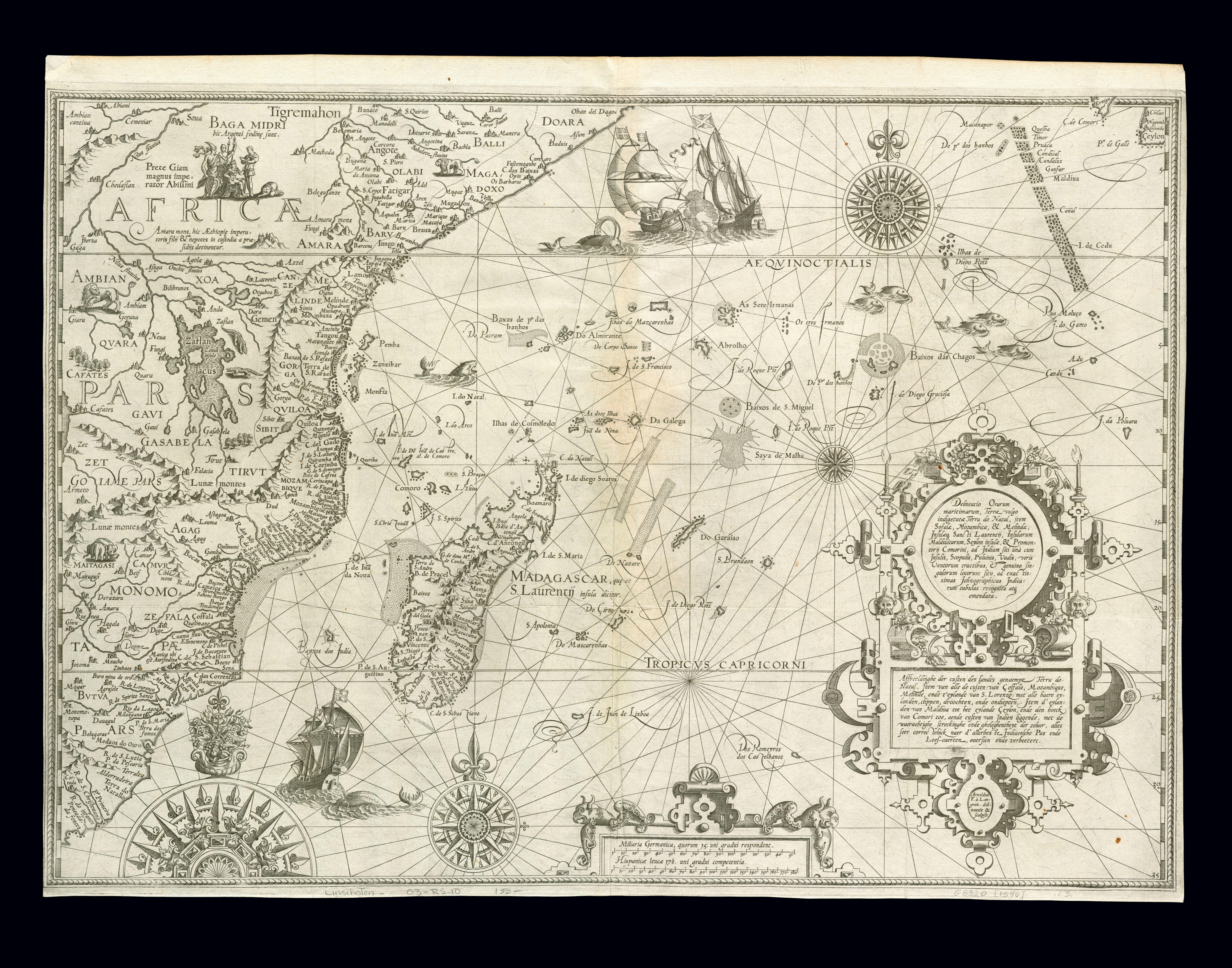 Datei:East Africa and the Indian Ocean 1596, Arnold Florent van ...