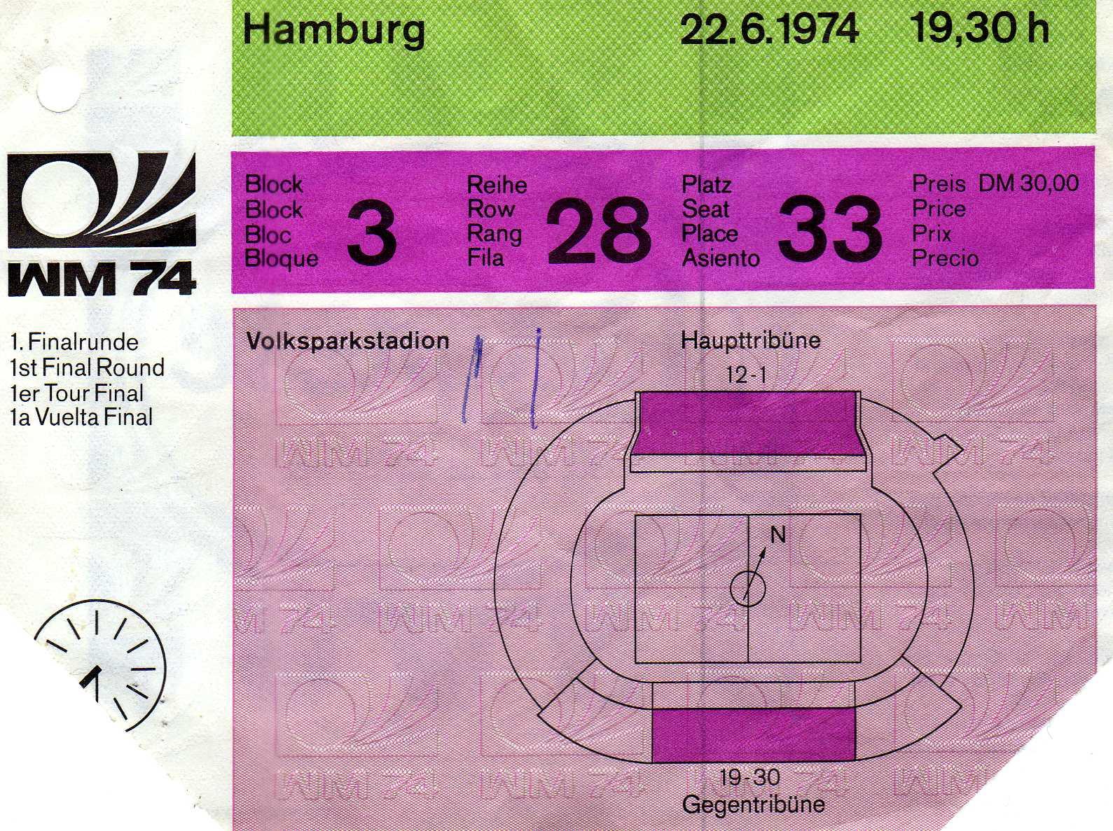 Fußballländerspiel Deutsche Demokratische Republik