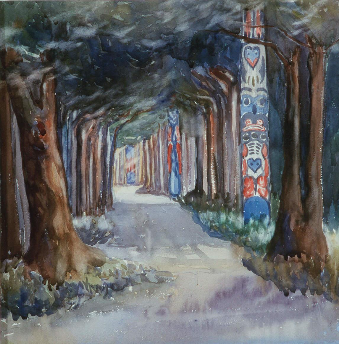 Emily Carr - Totem Walk at Sitka, 1907.jpg
