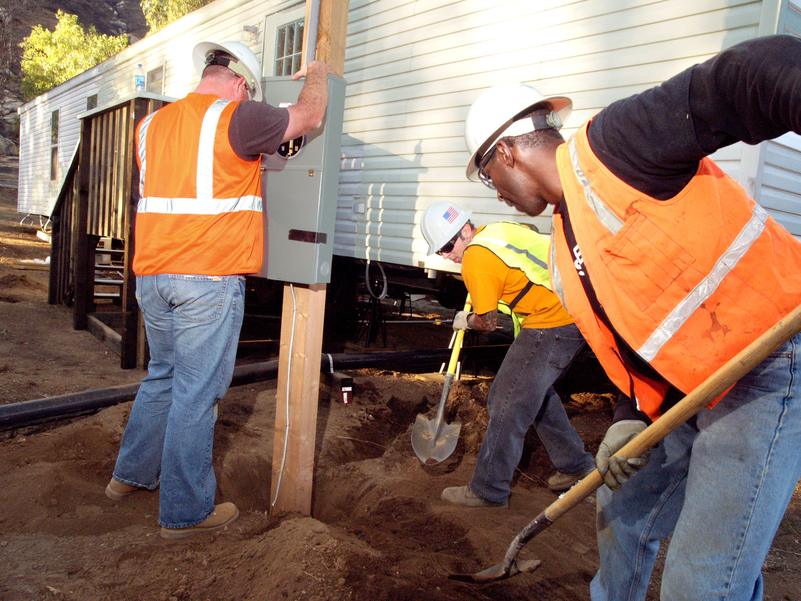 File:FEMA - 33797 - Electrical box being installed at a ... on providence home services, mobile funeral services, mobile web design, mobile hair salon, mobile coffee,