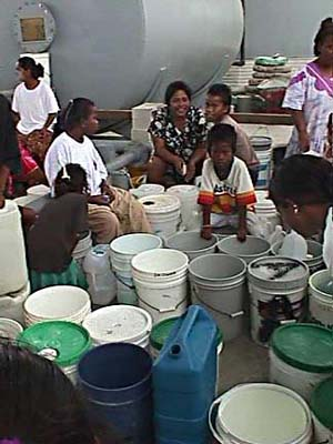 Water distribution on Marshall Islands during El Nino. FEMA - 917 - Photograph by Angel Santiago taken on 04-03-1998 in Marshall Islands.jpg