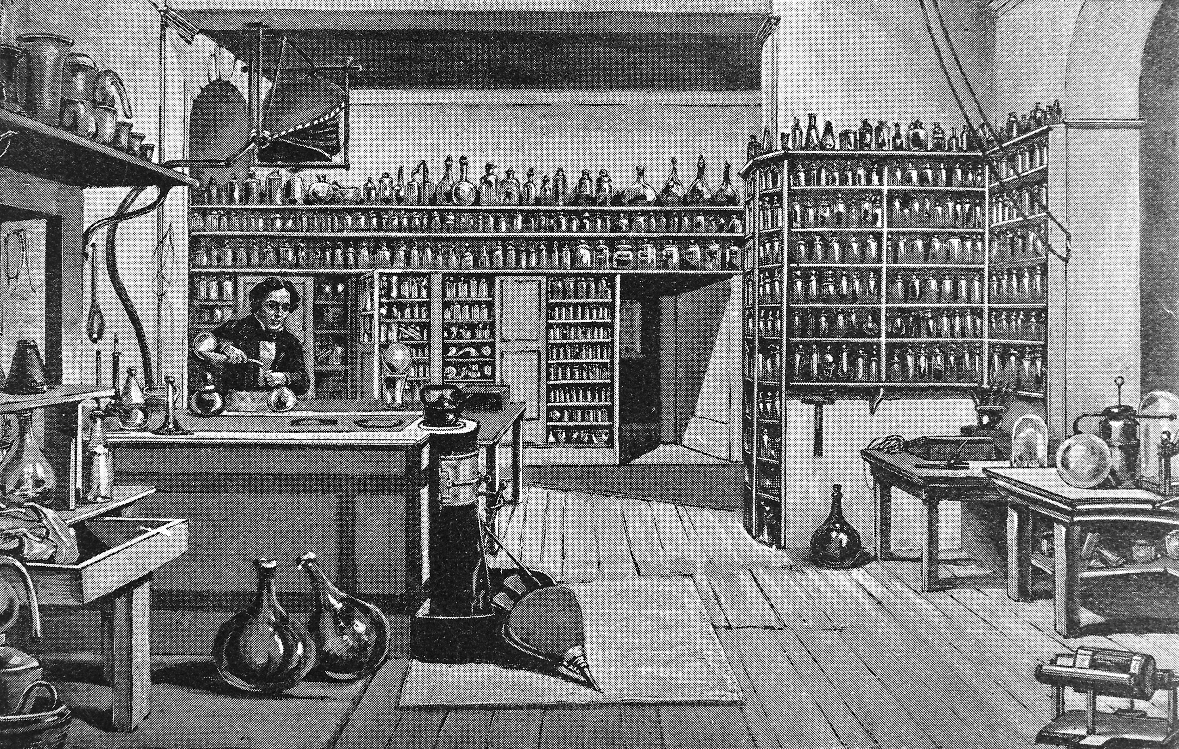 Image of ancient chemistry lab