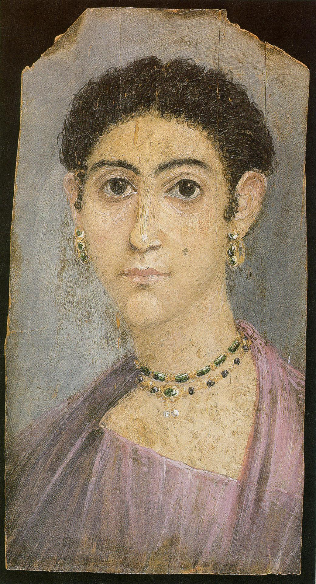Portrait Ofa Girl 14 Years In Nature Stock Image: Fayum Mummy Portraits Expose Information About Precise