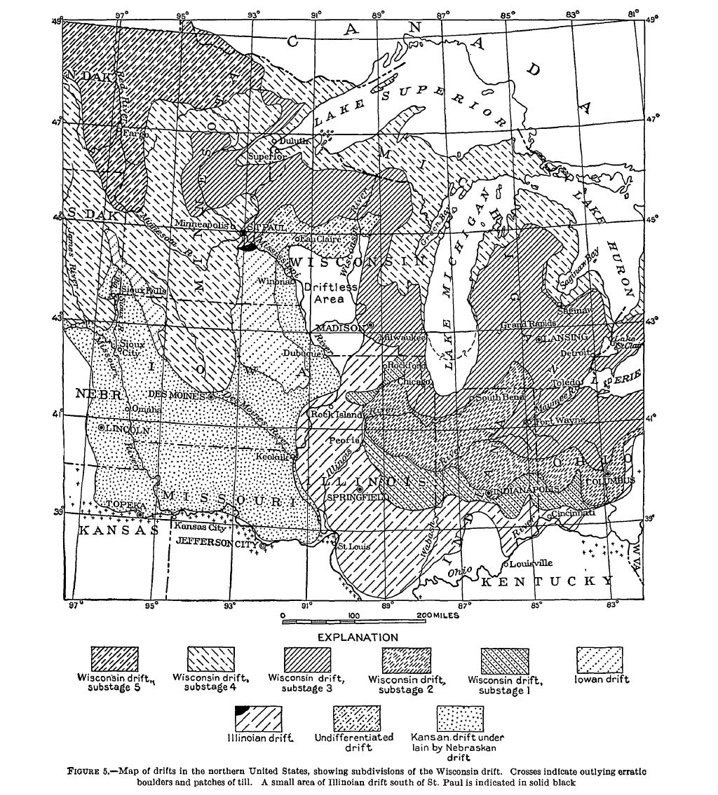 Image of: File Fig 5 Map Of Drifts In The Northern United States Jpg Wikimedia Commons