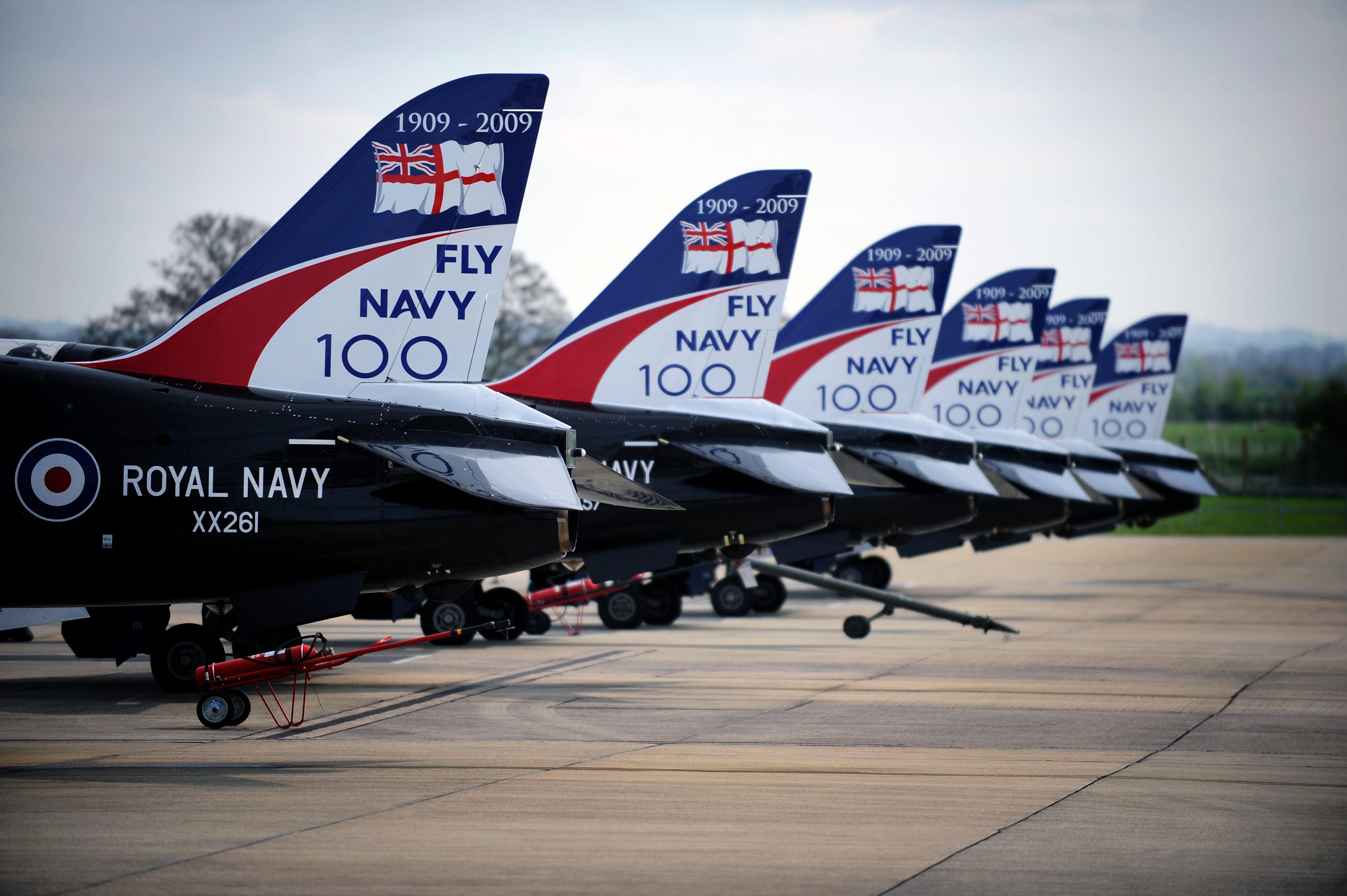 File:Fly Navy 100 Logos on Hawk Aircraft at RNAS Yeovilton ...