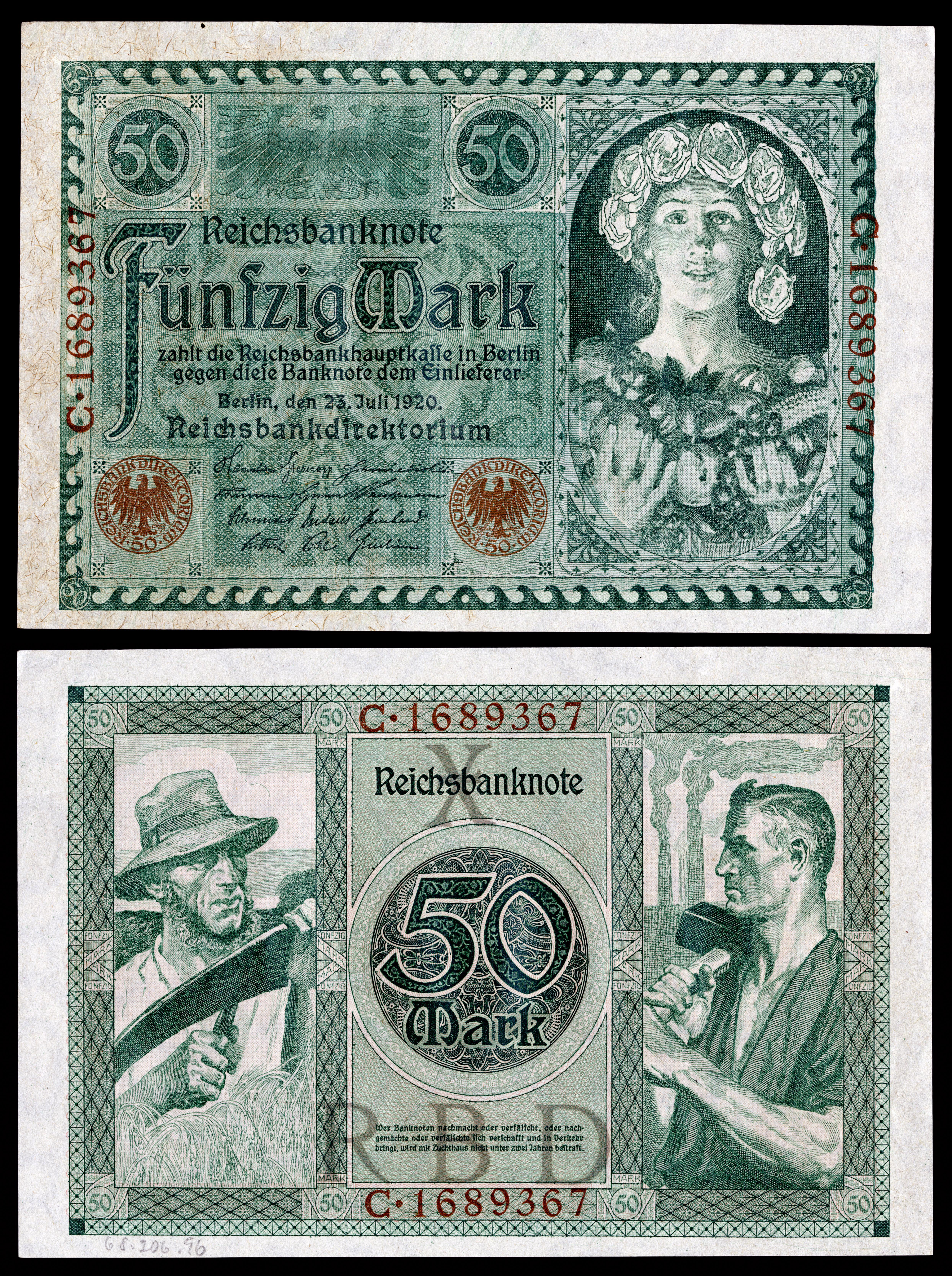 German papiermark wikipedia ger 68 reichsbanknote 50 mark 1920g buycottarizona