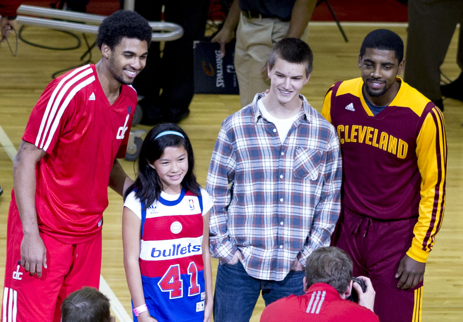 File Glen Rice Kyrie Irving with fans Wikimedia mons