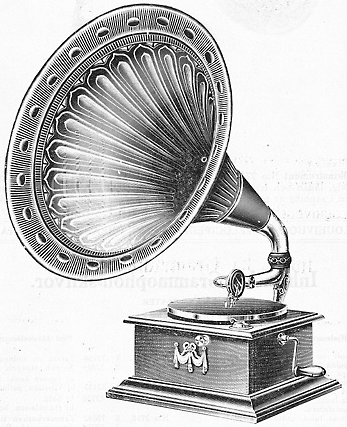 Old gramophone as an example for old range