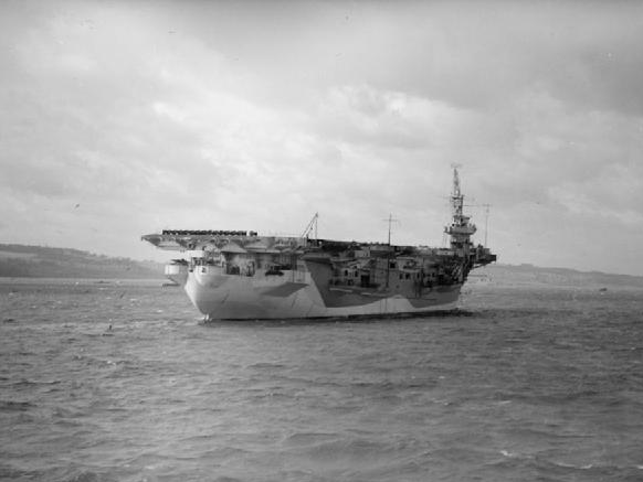 HMS Khedive was one of several escort carriers serving in the Indian Ocean. HMS Khedive.jpg
