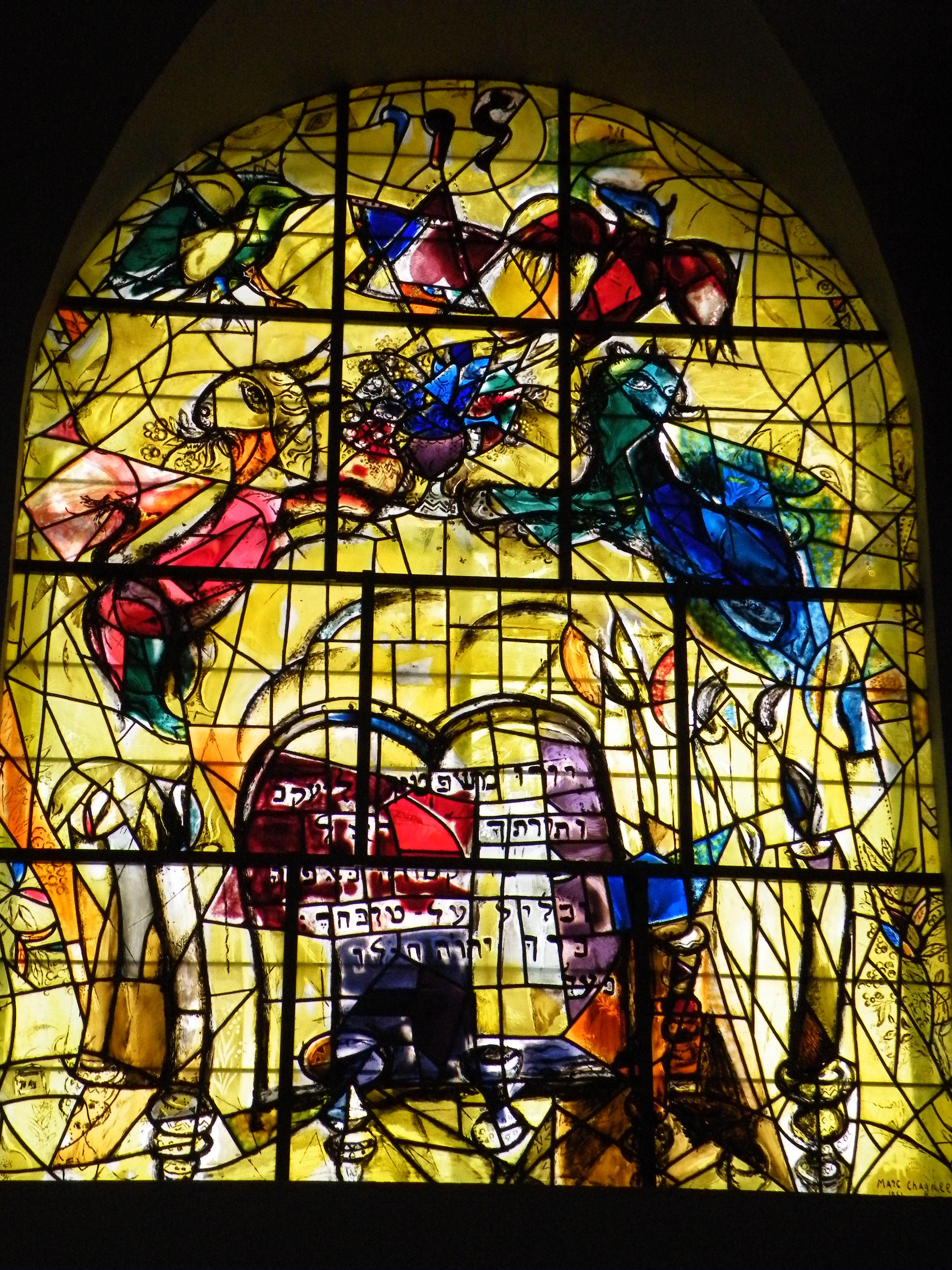 Glass Window: Chagall Stained Glass Windows Chagall Hadassah Windows