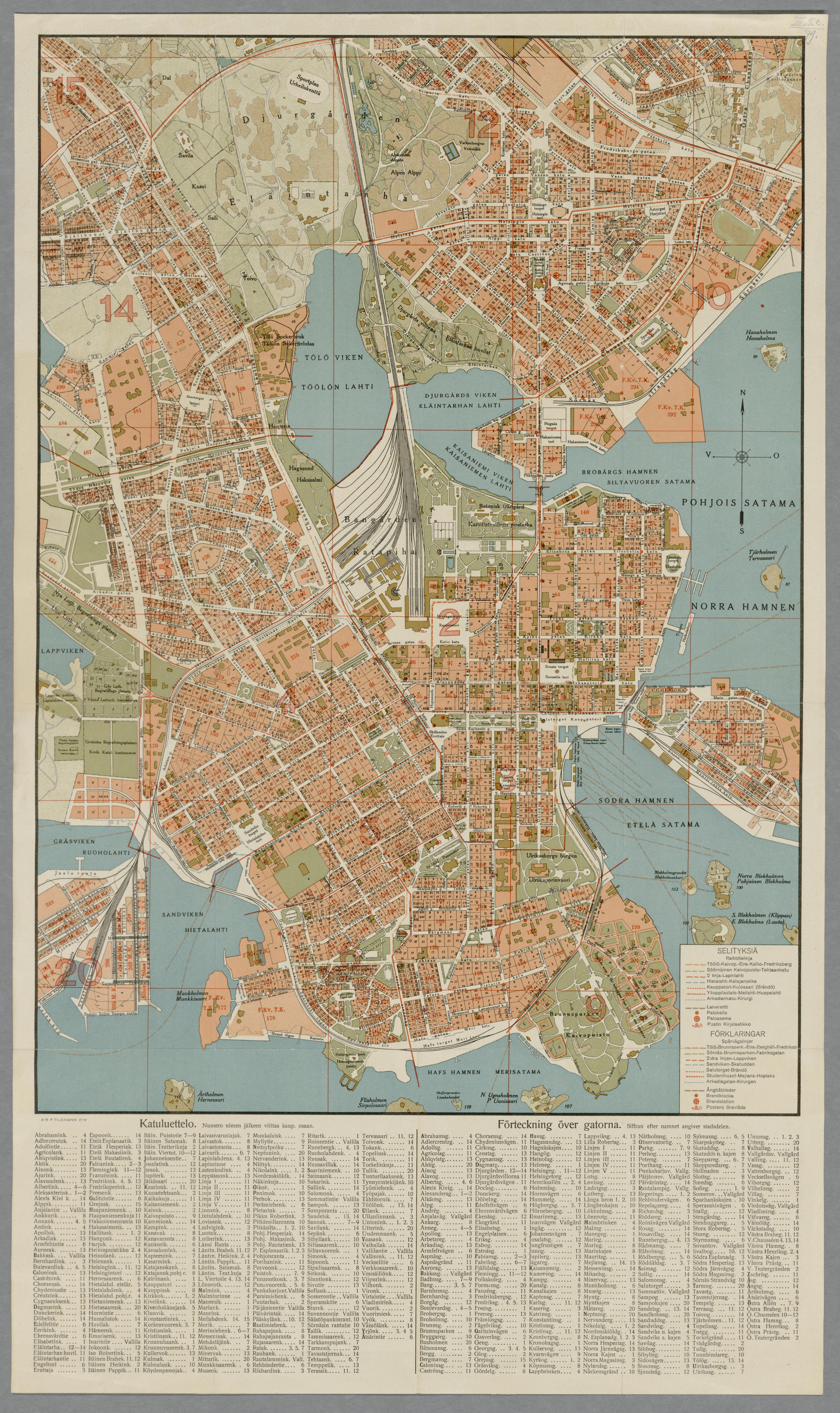 File Helsinki Kartta Ja Luettelo Kaduista Ja Nahtavyyksista 1924