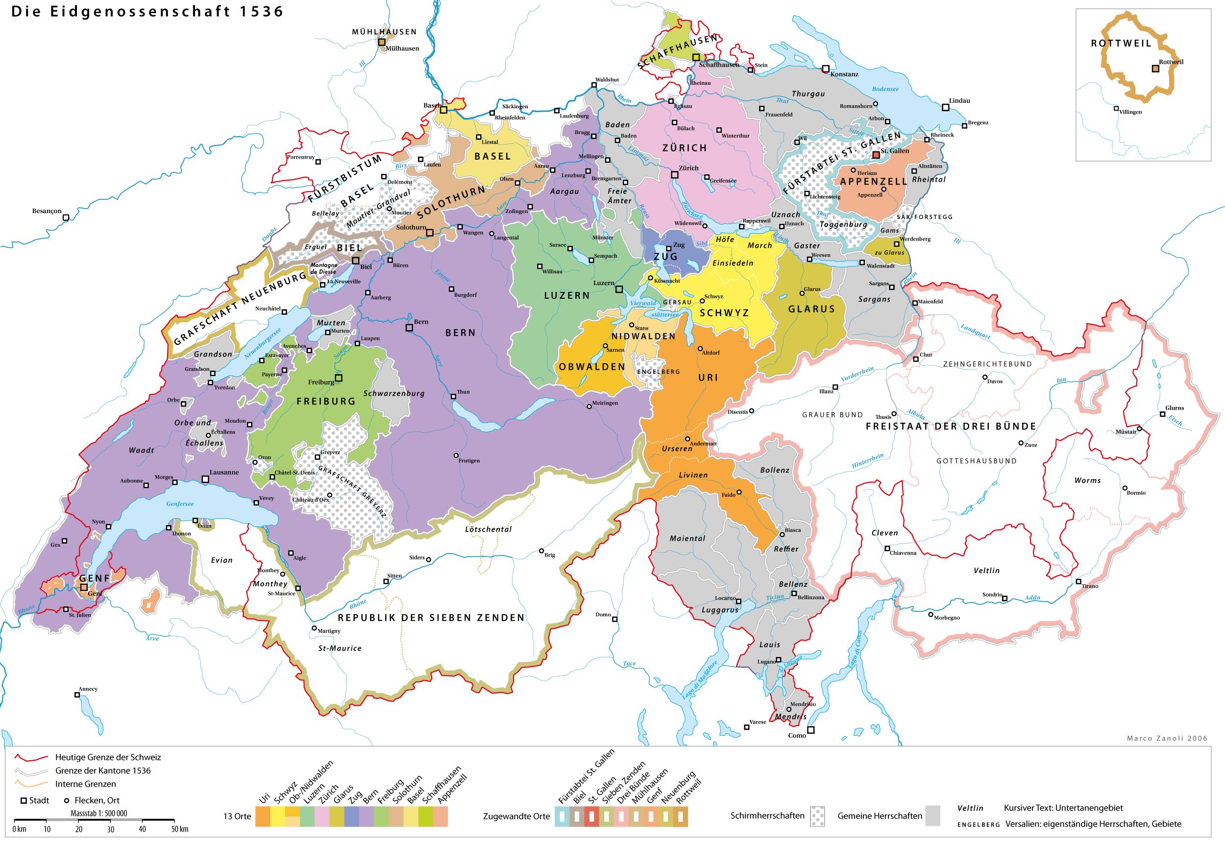 Geschichte der Schweiz – Wikipedia - Deutschland Und Schweiz Karte
