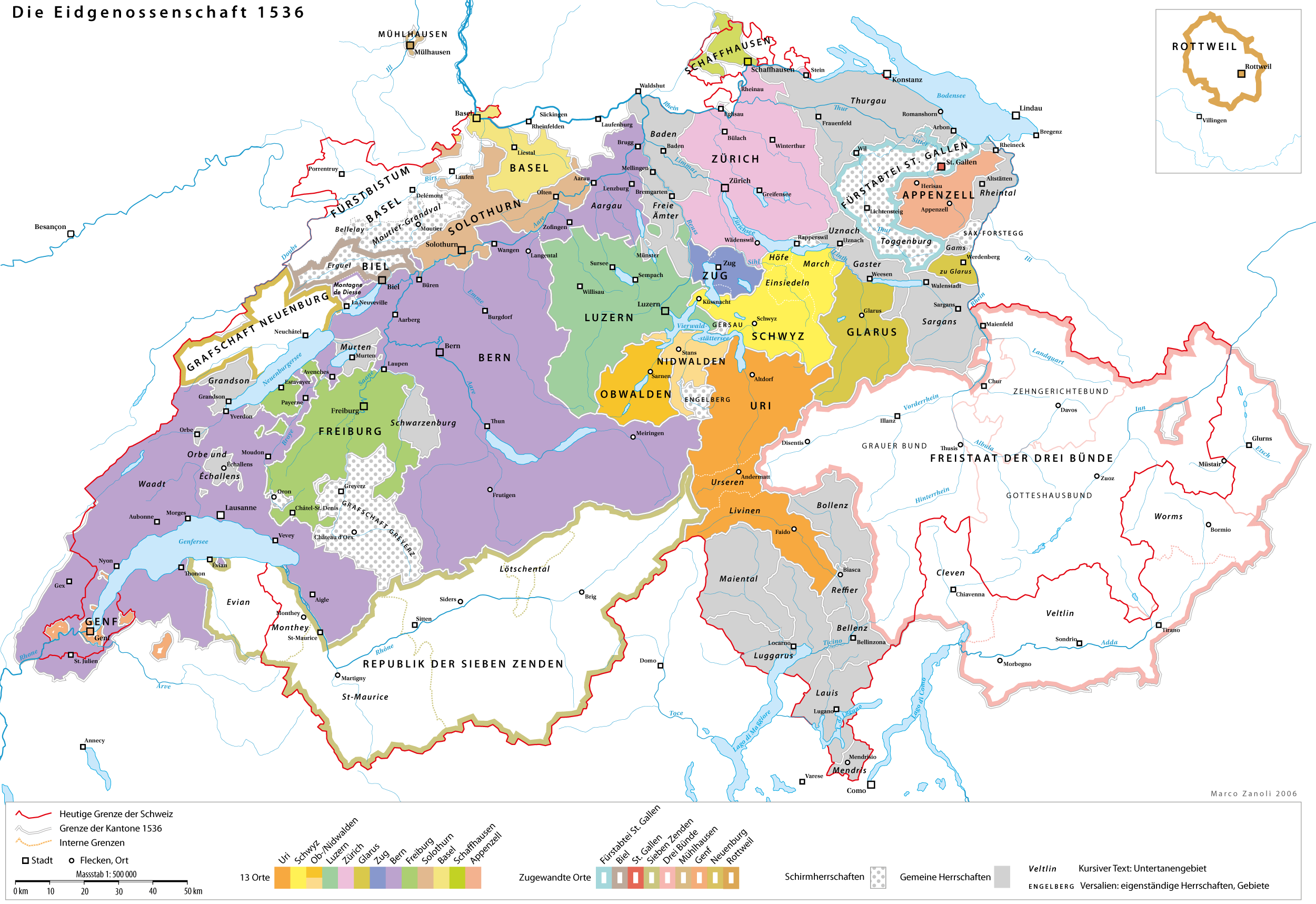 Schweiz Berge Karte