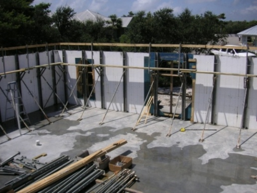 File insulating concrete forms icf bracing jpg wikimedia for Icf concrete forms
