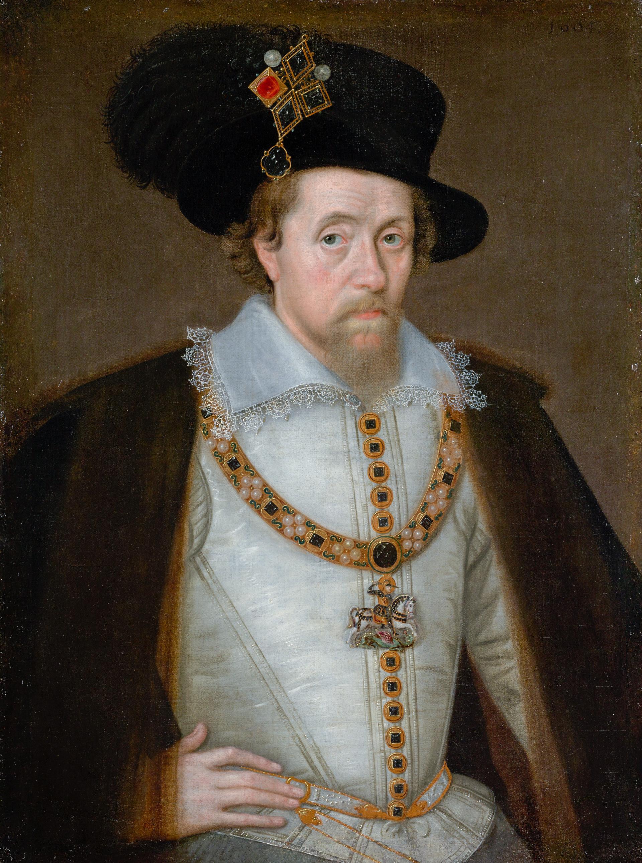 Portret al lui Iacob I de John de Critz, c. 1605