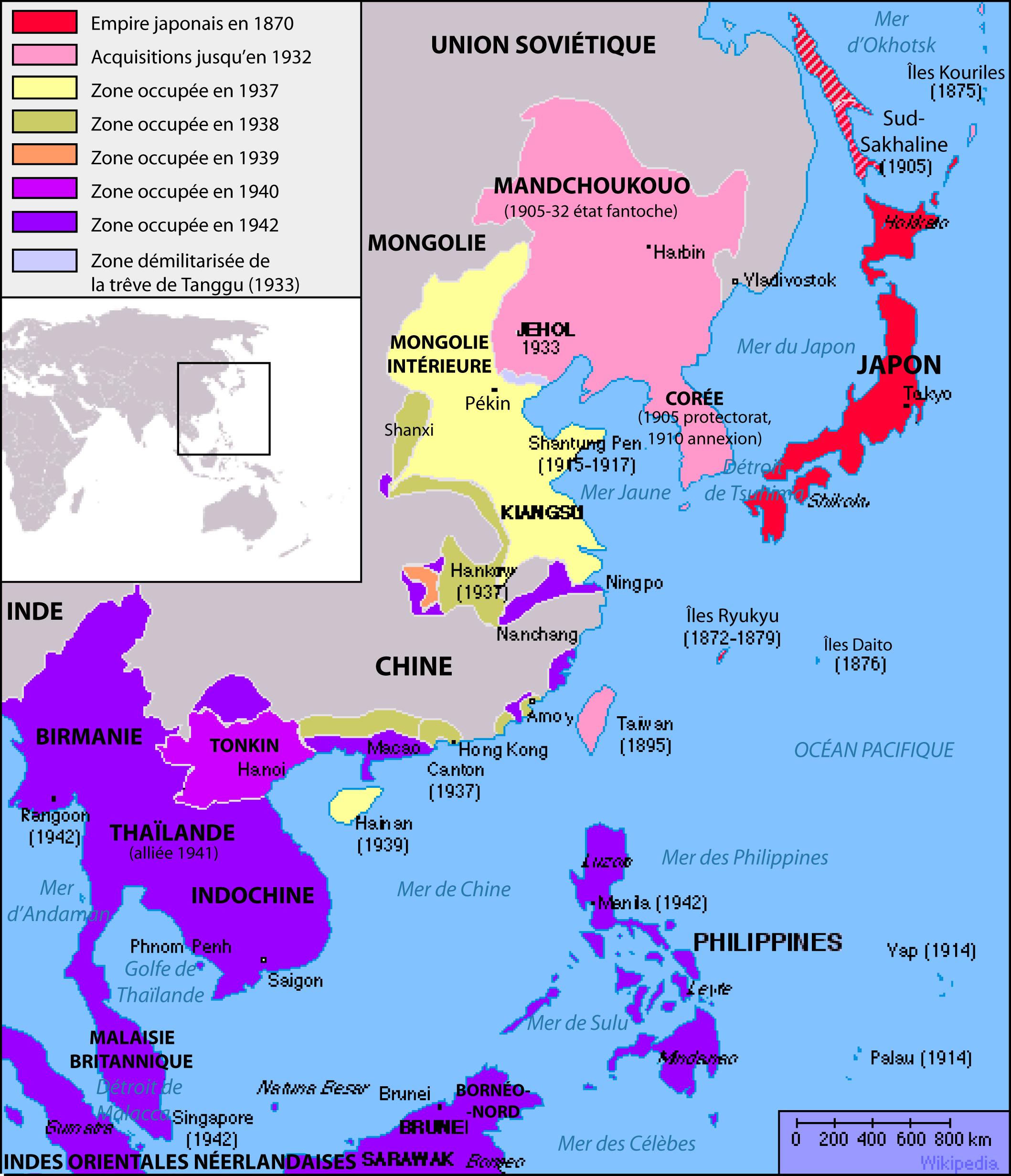 """Résultat de recherche d'images pour """"expansionnisme japonais"""""""