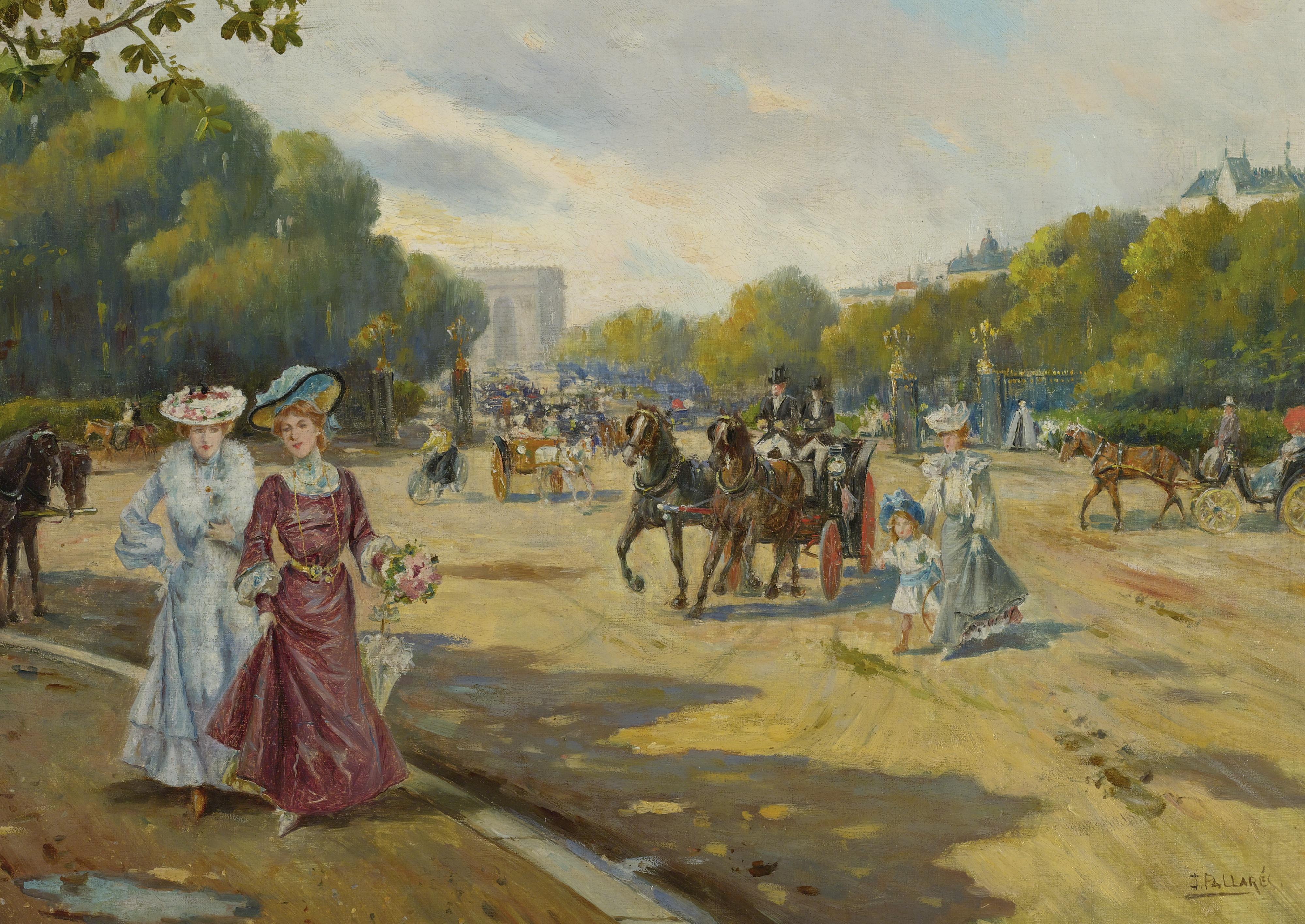 Joaquín Pallarés Allustante Porte Dauphine Bois de Boulogne 1872jpg