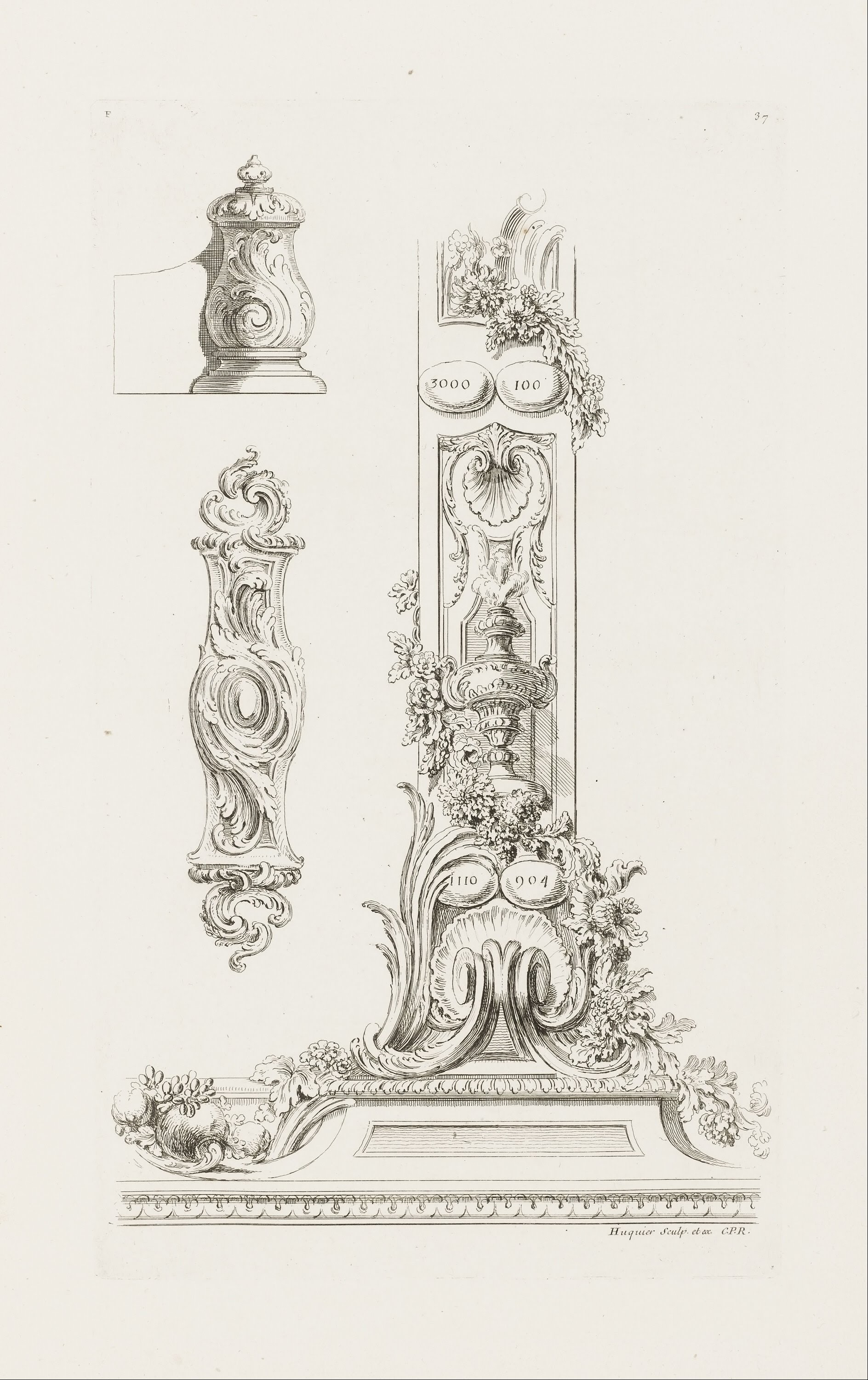 Filejuste Aurèle Meissonnier Design Of Fragments Of The Border