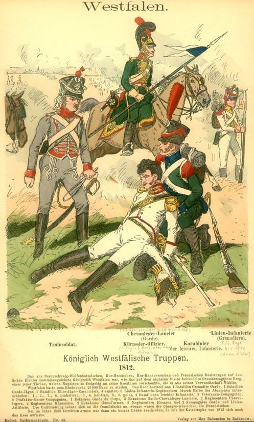 Königlich westfälische Truppen, 1812